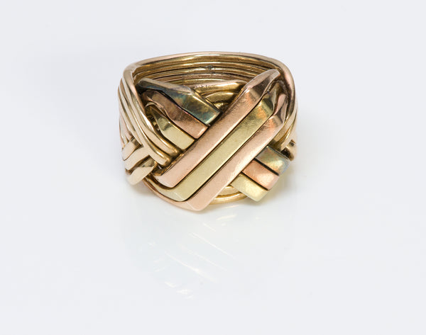 Gold Puzzle Men's Ring