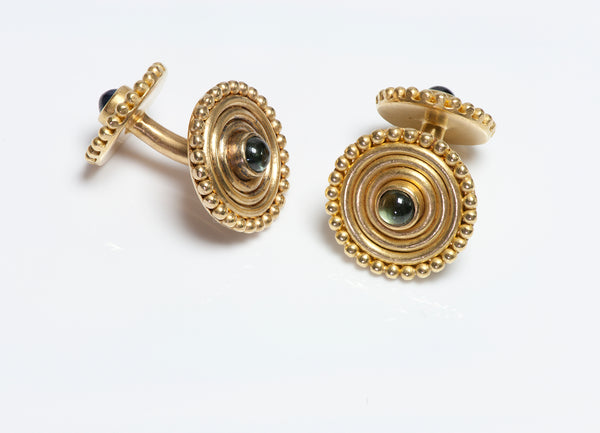 Reinstein Ross 22K Gold Disc Cufflinks