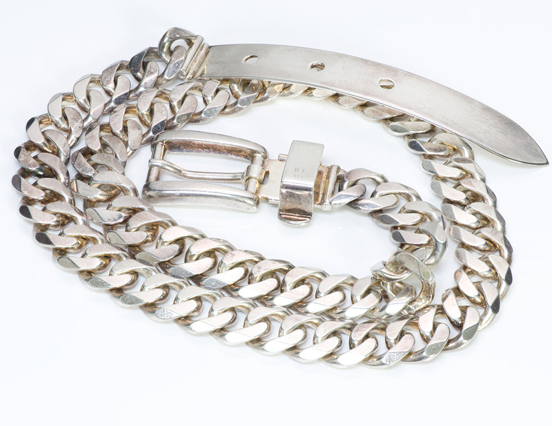 Ralph Lauren Sterling Chain Buckle Belt