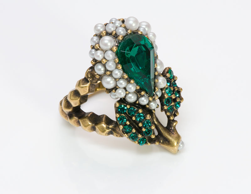 Gucci Crystal Pearl Ring