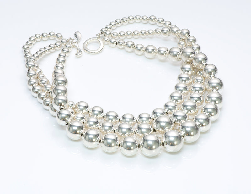 Robert Lee Morris Sterling Silver Bead Necklace