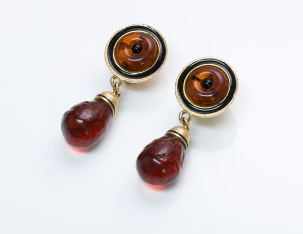 Vintage Roxanne Assoulin Glass Enamel Earrings