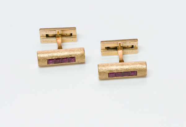 Cartier Ruby Cufflinks