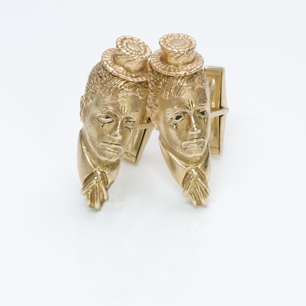 Vintage William Ruser Gold Cufflinks