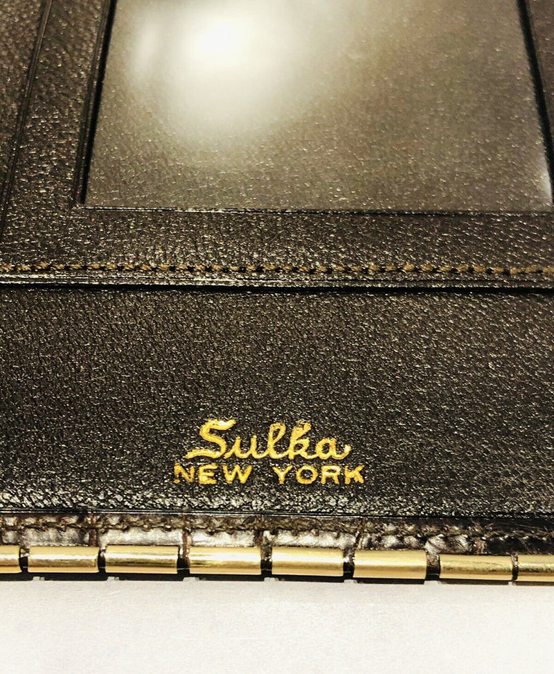 SULKA New York Crocodile 14K Gold Wallet