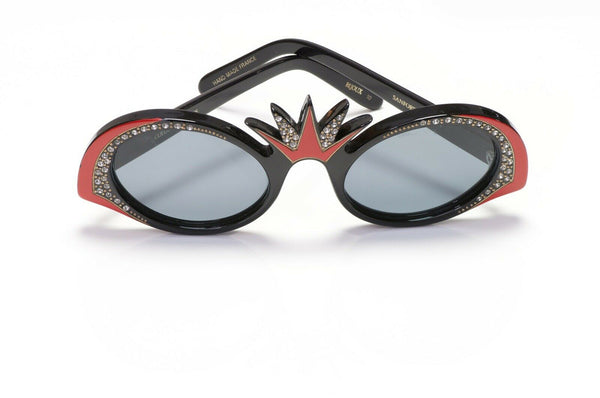 Sanford Hutton France Black Crystal Sunglasses