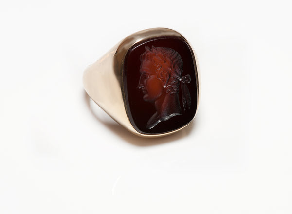 Antique Gold Sardonyx Intaglio Men's Ring