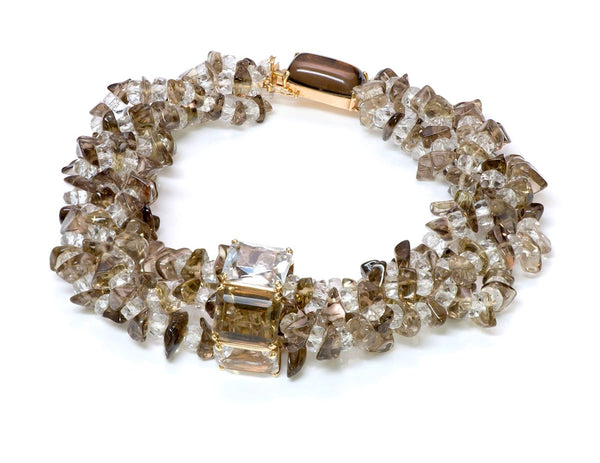 Seaman Schepps Citrine Bead Gold Necklace
