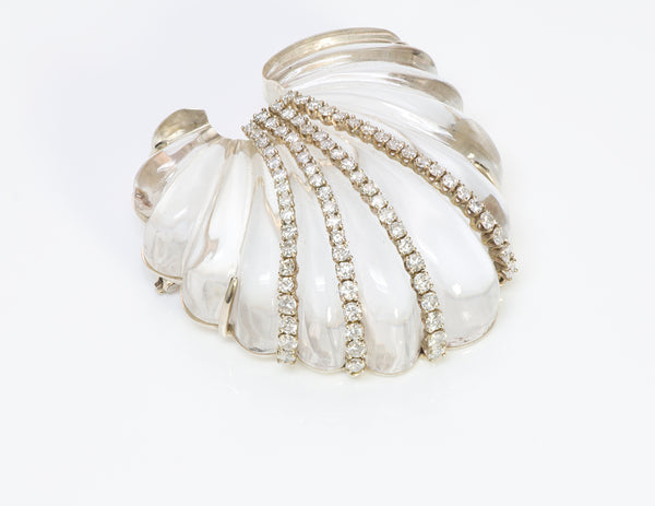 Seaman Schepps Seashell Crystal Diamond Brooch