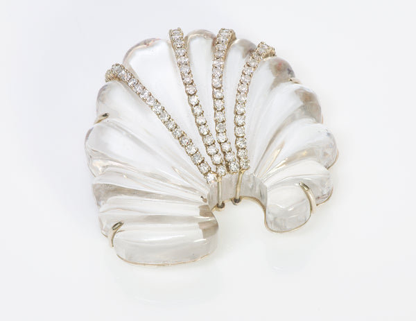 Seaman Schepps Seashell Crystal Diamond Brooch 1