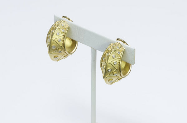 Seidengang Byzantine Diamond yellow Gold Earrings