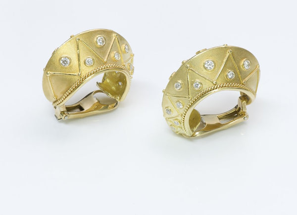 Seidengang Byzantine Diamond Gold Earrings