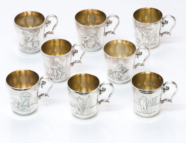 Antique French Silver Cups 1