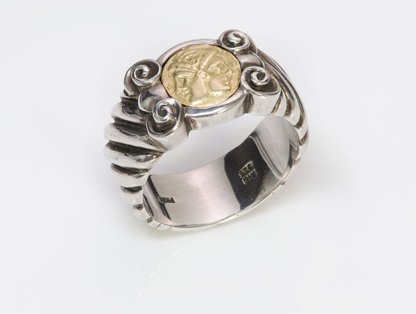 Gold Roman Head Men's Ring