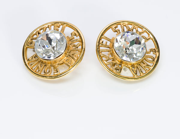 Sonia Rykiel Paris Gold Tone Crystal Earrings