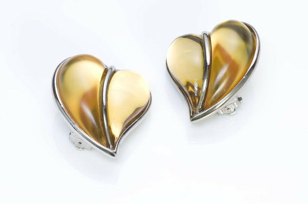Sonia Rykiel Paris Glass Heart Earrings 2