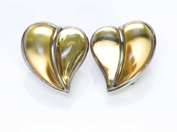 Sonia Rykiel Paris Glass Heart Earrings