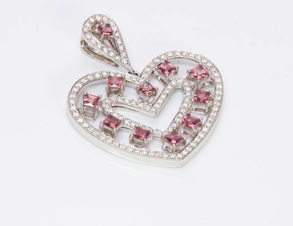 SPM Ruby Diamond 18K Gold Heart Pendant