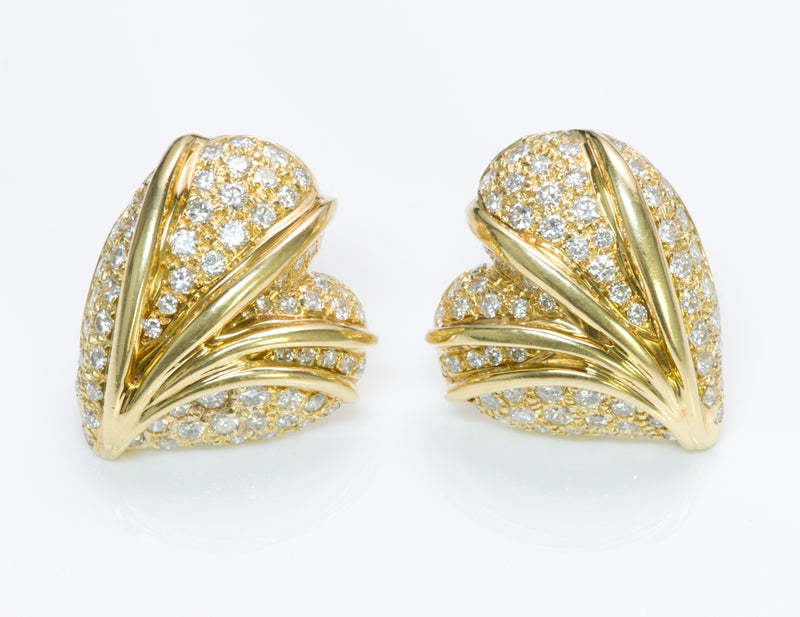 Stefan Hafner Gold Diamond Earrings