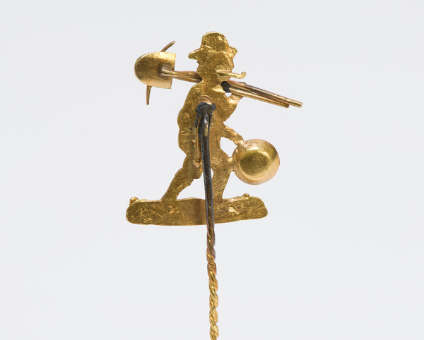 Antique Yellow Gold Miner Stickpin
