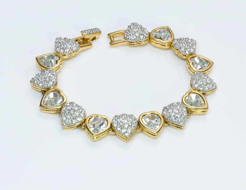 Swarovski Crystal Heart Necklace Bracelet