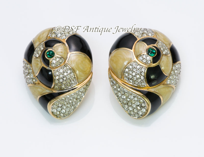 Swarovski Enamel Shell Earrings