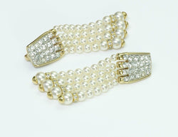 Vintage Swarovski Pearl Drop Earrings