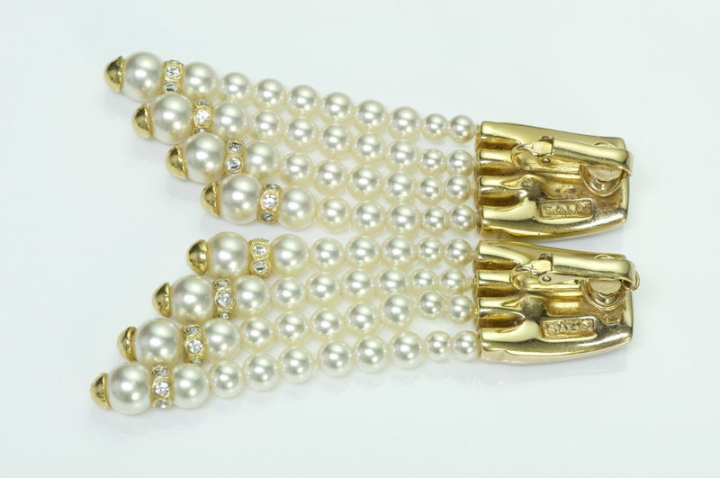 Vintage 1980's Swarovski Pearl Drop Earrings