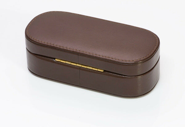 TIFFANY Co. Brown Leather Jewelry Case
