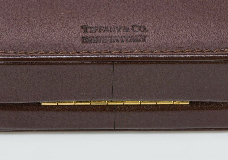 TIFFANY & Co Brown Leather Jewelry Case Box