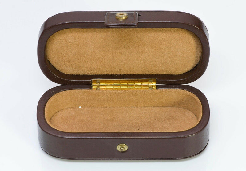 TIFFANY & Co Brown Leather Box Jewelry Case