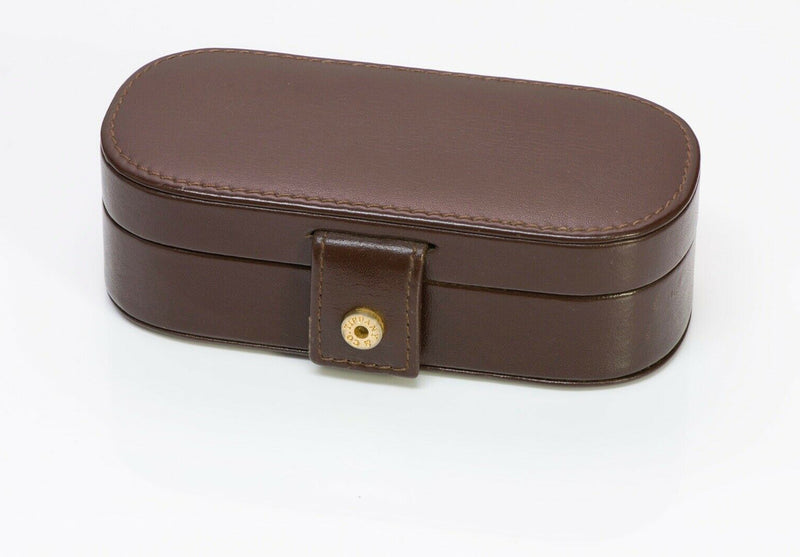 TIFFANY & Co Brown Leather Jewelry Case