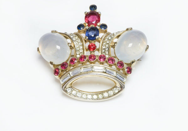 Trifari Jelly Belly Crown Brooch