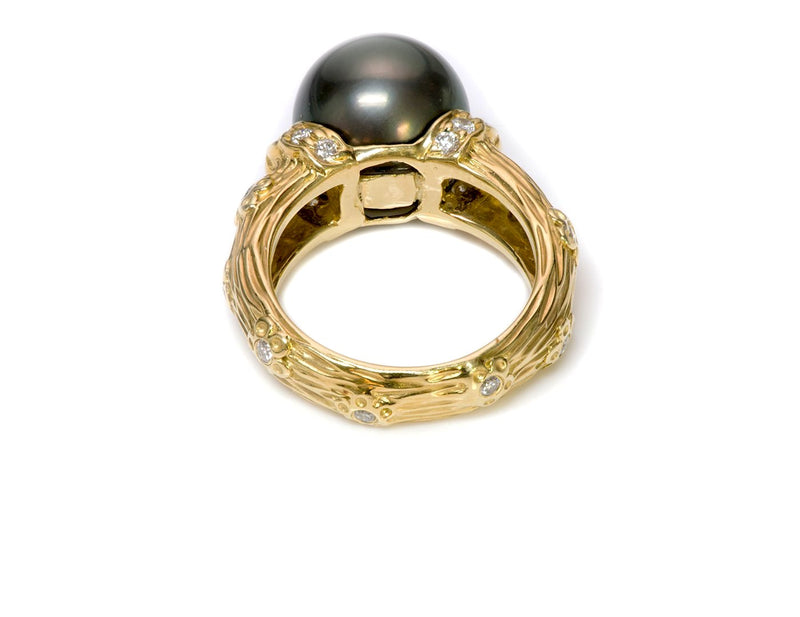 Tahitian Pearl Gold Diamond Ring