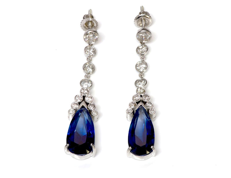 Tanzanite Diamond Earrings1