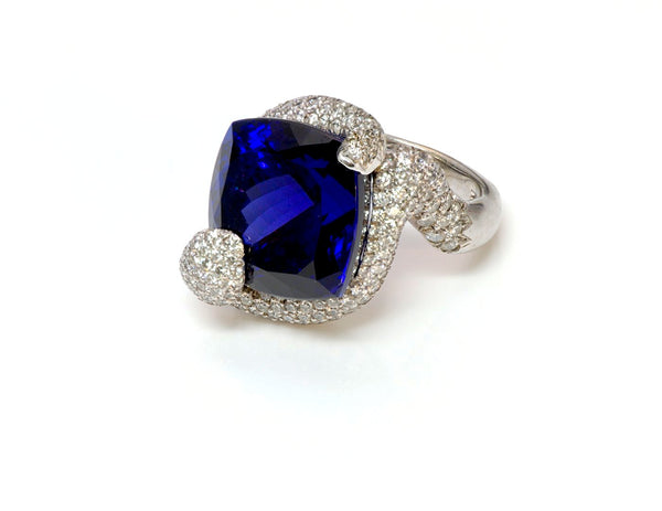 Tanzanite Diamond 18K Gold Ring