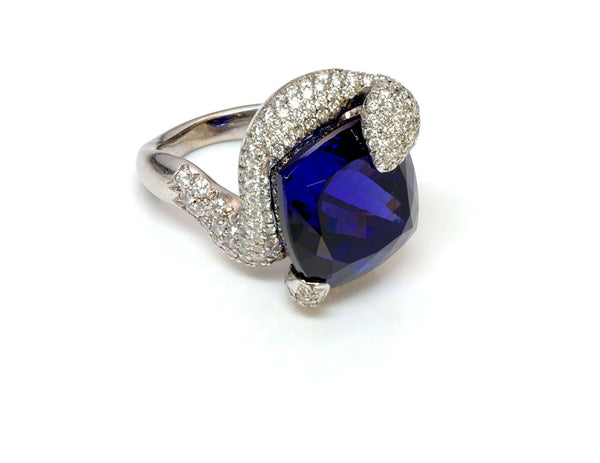 Tanzanite Diamond 18K Gold Ring 1