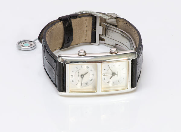 Tateossian London Sterling Silver Dual Time Watch