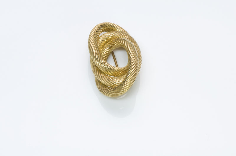 Tiffany & Co. Gold Rope Brooch