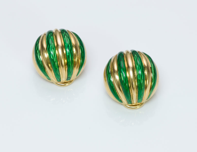 Tiffany & Co. Enamel & Gold Earrings