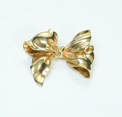 Tiffany & Co. Vintage Gold Bow Brooch