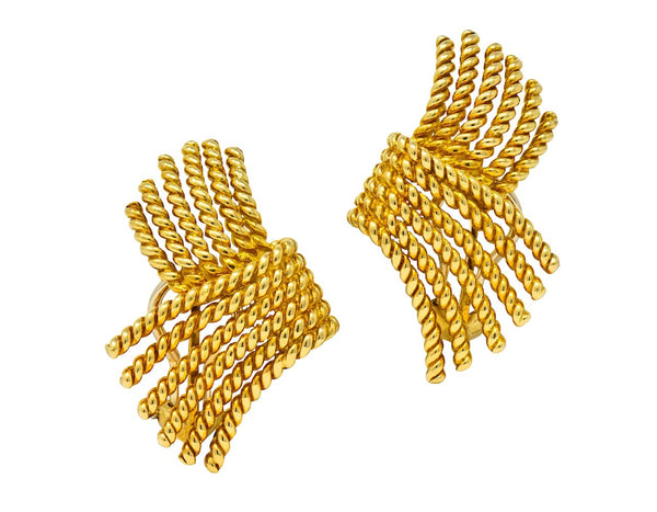 Tiffany & Co. Schlumberger Rope 18K Gold Earrings