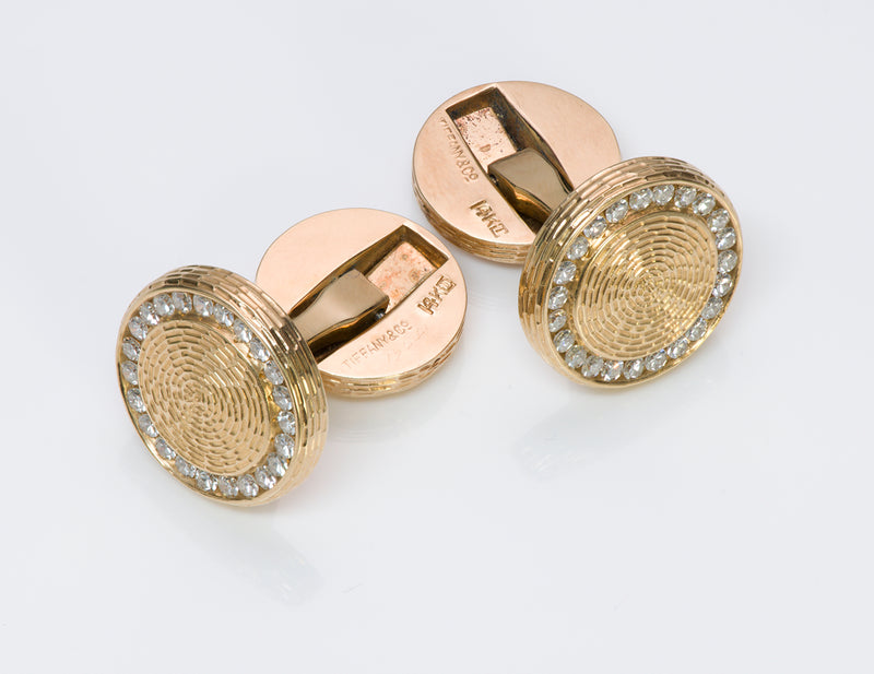 Tiffany & Co. Diamond Cufflinks Vintage