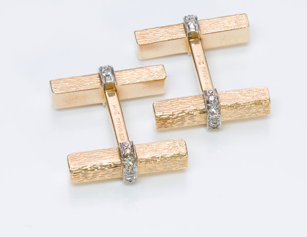 Tiffany & Co. Diamond Bar Cufflinks