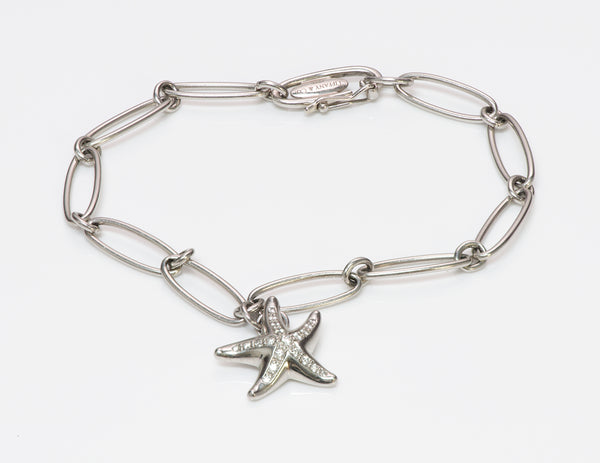 Tiffany & Co. Elsa Peretti Platinum Starfish Charm Bracelet
