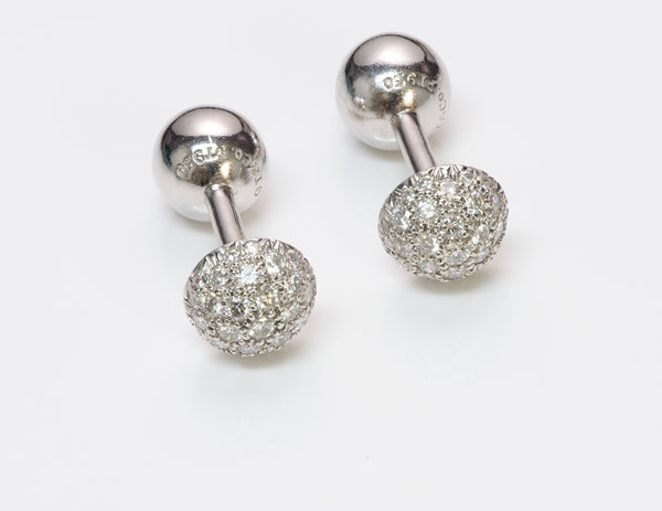 Tiffany Co Etoile Platinum Diamond Cufflinks