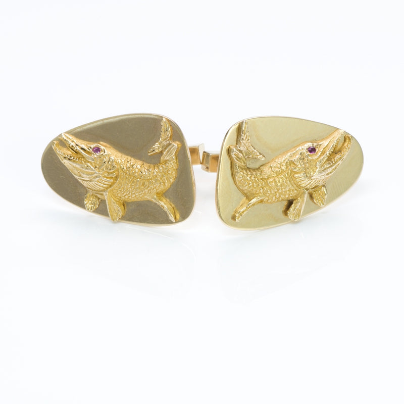 Tiffany & Co. Gold Ruby Cufflinks