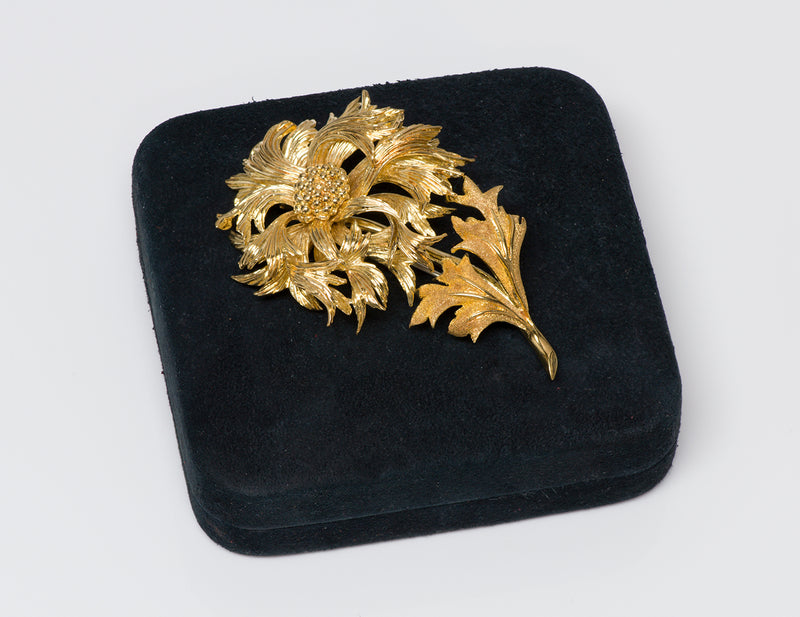 Tiffany & Co. Gold Flower Brooch