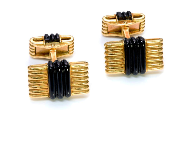 Tiffany & Co. France Gold Onyx Cufflinks