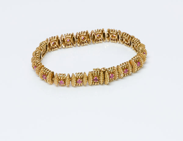 Tiffany & Co. Ruby Gold Bracelet